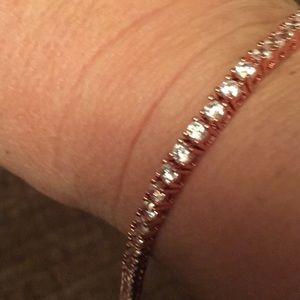 Costume CZ bracelet in rose gold tone new in box